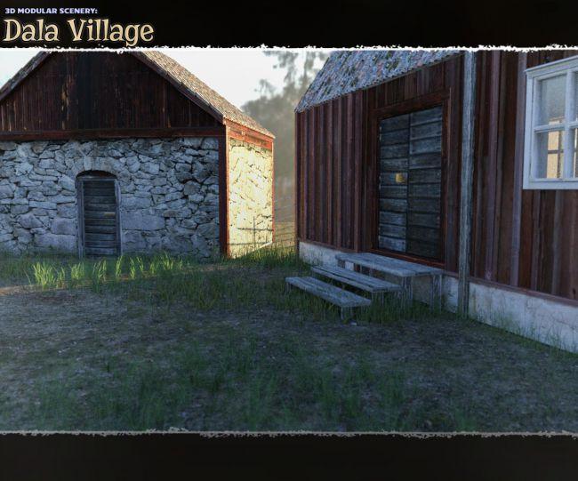 3d-modular-scenery:-dala-village