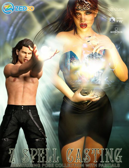z-spell-casting-poses-and-partials-for-genesis-3-and-8