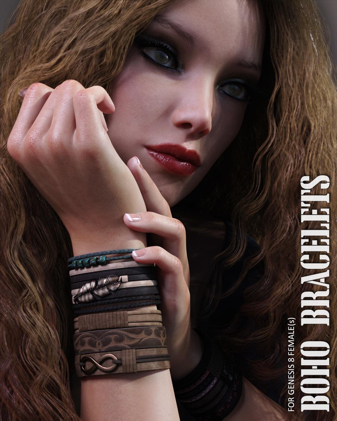 boho-bracelets-for-genesis-8-females