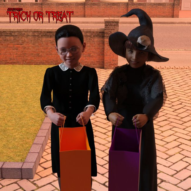 amber's-friends-trick-or-treat