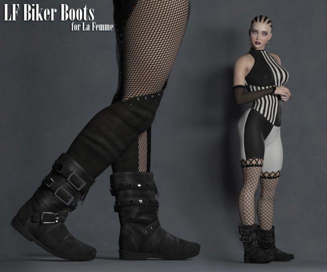 la-femme-biker-boots