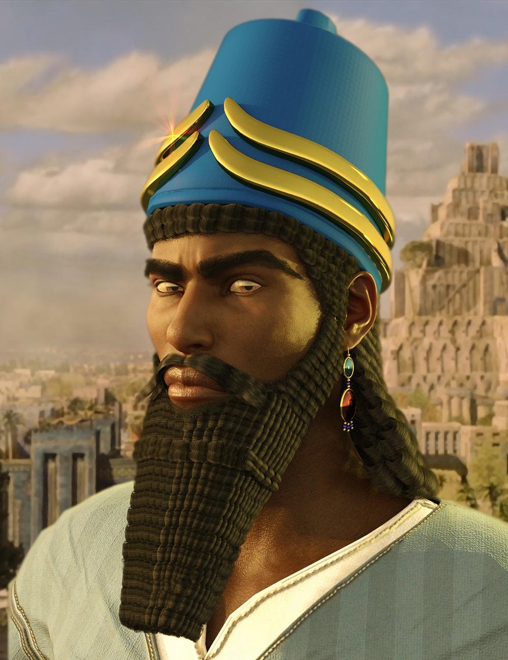 assyrian-headdress-for-genesis-8-males