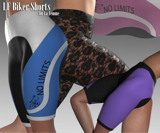 la-femme-biker-shorts