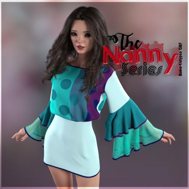 the-nanny-series:boho-calypso-dress-g8f