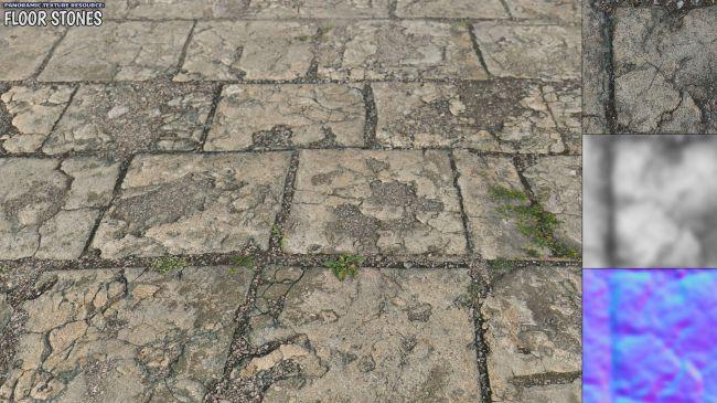 panoramic-texture-resource:-floor-stones