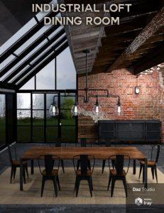 industrial-loft-dining-room