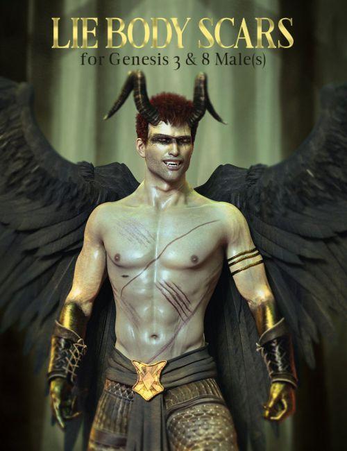 lie-body-scars-for-genesis-3-&-8-male(s)
