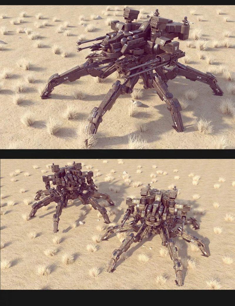 sci-fi-ms-spider-mecha