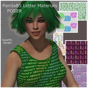 pandab5-letter-materials-for-poser