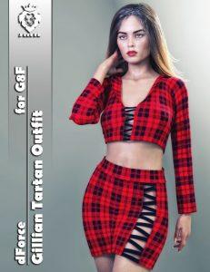 jmr-dforce-gillian-tartan-outfit-for-g8f