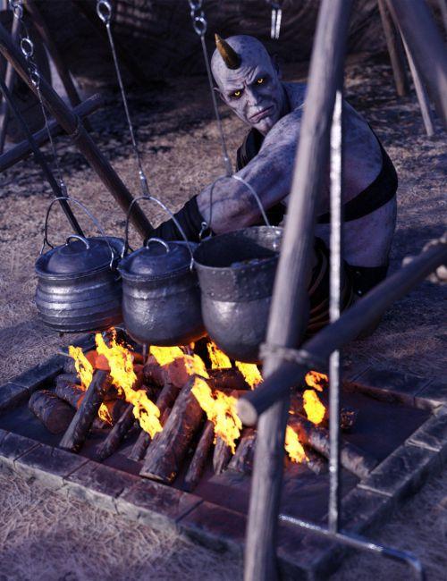 primitive-medieval-campsite